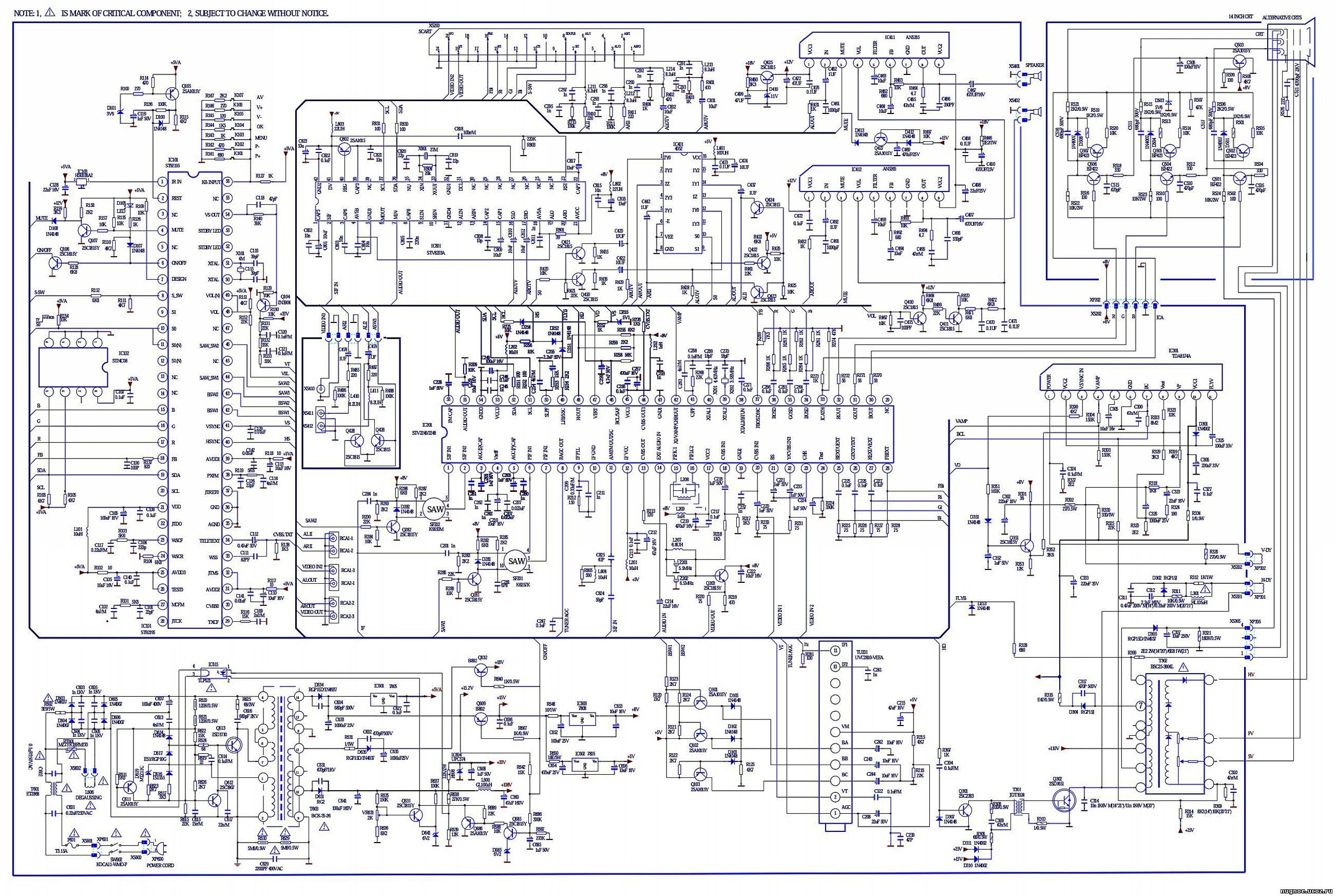 схема телевизора на базе шасси klx-s10x-t